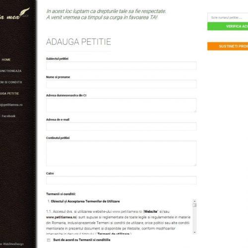 creare-site-trimitere-petitii